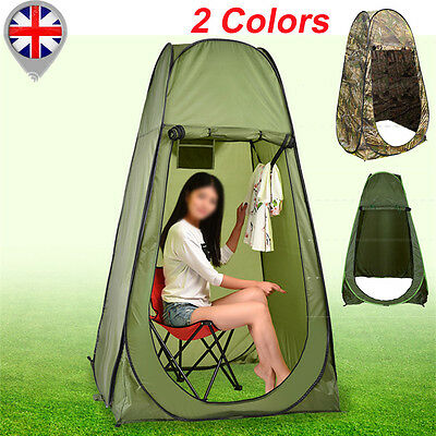 Portable Pop Up Tent Camping Travel Toilet Changing Privacy Room w/Bag 2 Colors