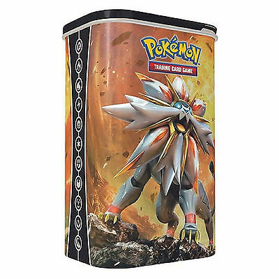 Pokemon TCG Sun & Moon Solgaleo Deck Shield Tin - 2 Booster Packs +Energy Cards
