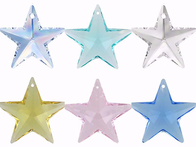 Crystal Stars Swarovski Elements 6714 Pendant 7 Colours Hanging Craft Jewellery