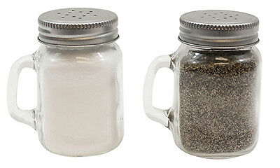 140ml Mason Salt or Pepper Glass Shaker with Metal Lid (Singular)