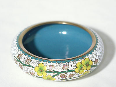 Floral Decorated Cloisonne Bowl