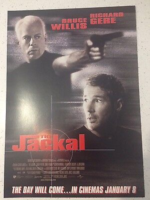 "Promotional 7"" X 11"" Australian Release Movie Flyer - The Jackal (1998)"