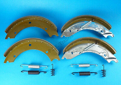 Axle Set of 250x40mm Trailer Brake Shoes & Springs for KNOTT Ifor Williams