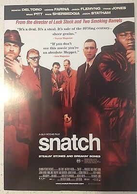 "Promotional 7"" X 11"" Australian Release Movie Flyer - Snatch (2000)"