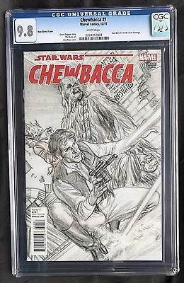 Marvel Star Wars Chewbacca #1 Alex Ross 1:200 Sketch Cover Variant CGC 9.8