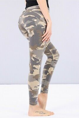 Freddy Wr.up® Shaping Effect - Low Waist Womens Pants, Skinny Fit, Camouflage