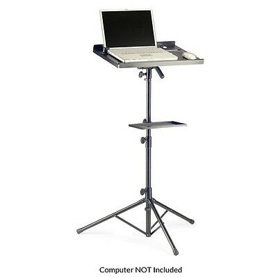 Stagg Height Adjustable Portable Laptop Projector Steel Stand with Extra Table