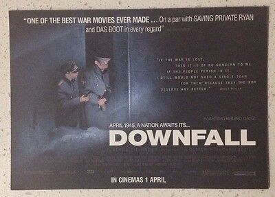 "Promotional 5.5"" X 4"" Australian Release Movie Postcard - Downfall Der UNTERGANG"