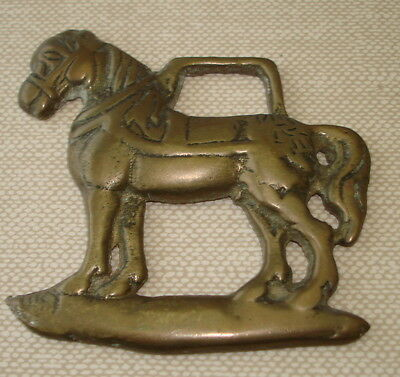 Vintage English Horse Tack Harness Brass Bridle Ornament