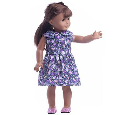 Flower Pattern Clothes for American Girl Our Generation 18'' Doll Dresses A#