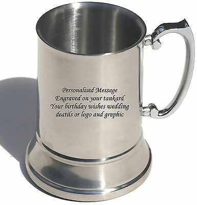 Personalised Engraved Stainless Steel tankard - Fathers Day gift
