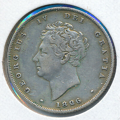 Great Britain Shilling 1826 KM694 - VF