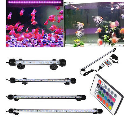 RGB LED Light Clip Strip Lamp Underwater Submersible Aquarium Fish Tank + Remote
