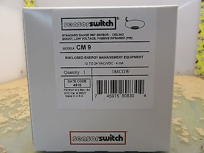 Sensor Switch CM-9 ceiling mount PIR occupancy 184CGW (3*B-20)
