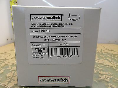 Sensor Switch CM-10 ceiling mount 360° PIR extended range sensorswitch (3*A-9)