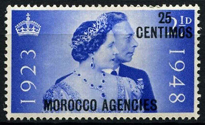 Morocco Agencies 1948 SG#176, 25c On 2.5d Silver Jubilee MH #D47492