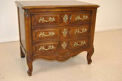"Henredon "" Villandry "" 3 Drawer French Style Night Stand Chest"
