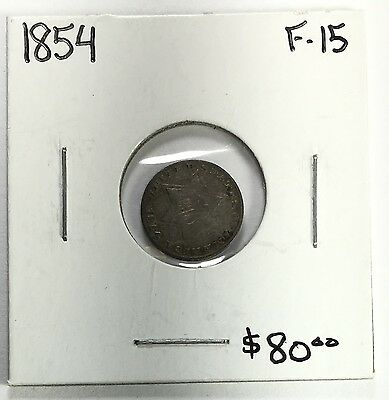 1854 Three Cent Silver Choice Fine
