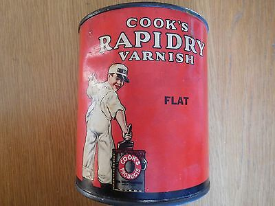 Vintage Cook's Paint Can Rapidry Varnish Can Cook Paint & Varnish Company