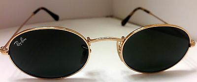 50335e67fc RAY-BAN RB3547N 001 51-21 145 OVAL FLAT LENSES Gold Green Classic ...