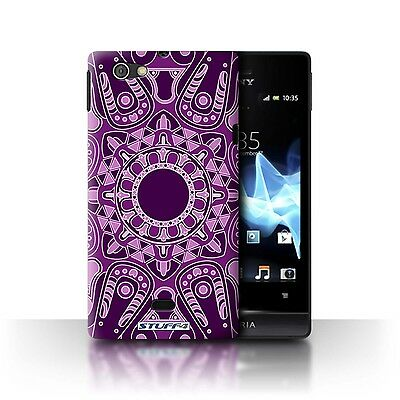 Case/Cover Sony Xperia Miro/ST23I / Mandala Art / Octagon/Purple