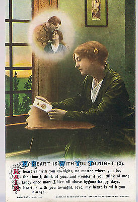 Bamforth Postcard My Heart Is With You Tonight 4946/2