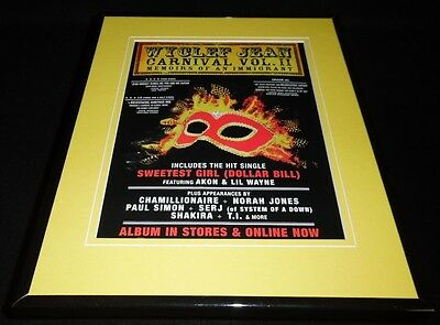 Wyclef Jean 2007 Carnival Vol II Framed 11x14 ORIGINAL Advertisement