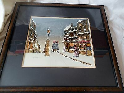 Original Maurice Bouchard framed Oil Mixed Painting OLD WORLD SUITE Canadian COA