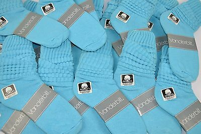 VINTAGE New Lot of 18 Pairs Cotton SLOUCH Baggy Socks Turquoise - 1980's