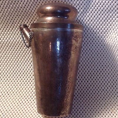 Antique FRANK M.WHITING Hammered Sterling Silver Cocktail Shaker  2 PTS