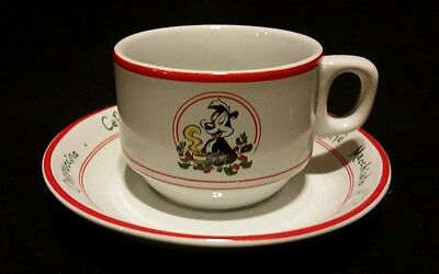 1994 Warner Bros studio store Pepe Le Pew Coffee Latte coffee cup and saucer