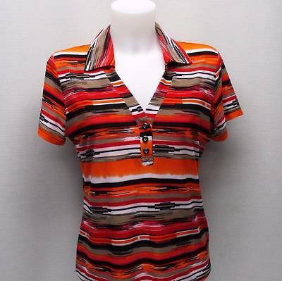 New Ladies Dexim Golfwear L polyester cap sleeve golf shirt polo Made in Canada
