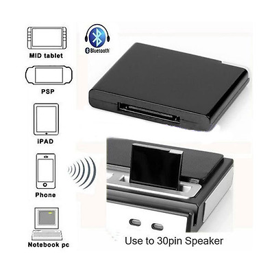 iPhone iPod iPad 30 Pin Bluetooth Music Receiver - Wireless Dock Station Adapter