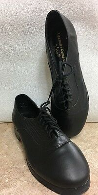 Leo's Womens Alexander Concerto Black Uptapped Tap Shoes Size 7M NWOB