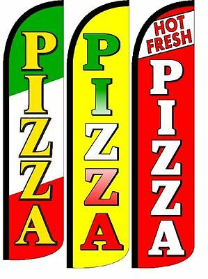 Fresh Hot Pizza King Size Windless 38 X 138 In Polyester Swooper Flag Pk Of 2 Business Industrial Business Signs Fundacion Traki Com