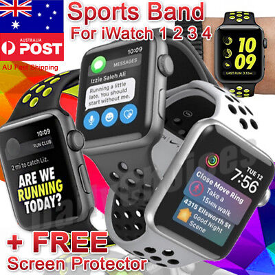 38/42mm Soft Silicone iWatch Band Comfy Sports Strap For Apple Watch Series 3/2