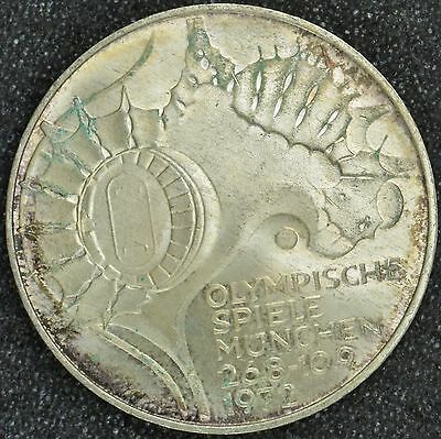 1972F Germany Silver Commemorative 10 Deutsche Marks Olympic Games (KM133)