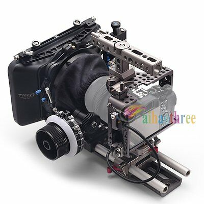 TILTA 4x4 MatteBox Baseplate Cage Rig Follow Focus Kit For Sony A7 Series Camera