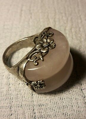 Vintage lavender jade double band ring