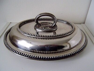 Serving Dish Bowl Silver Silver plate Vintage Antique Plate Plated Covered quali