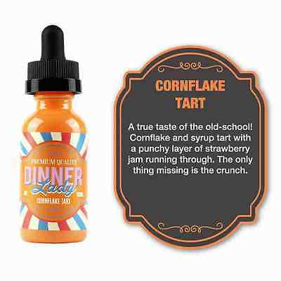 3x10m Dinner Lady Cornflake Tart E-Liquid - Vaping - 0/3/6mg Liquid - Genuine UK