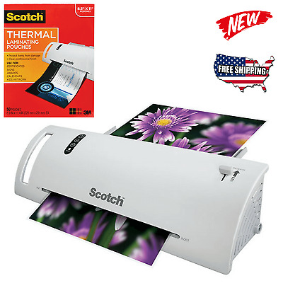 Scotch Thermal Laminator 2 Roller Laminating Machine with 50 Laminating Pouches
