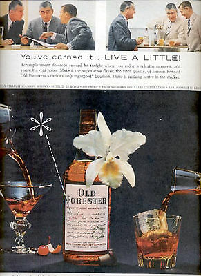 1957    Old Forester Bourbon Whisky   ad (# 4696)