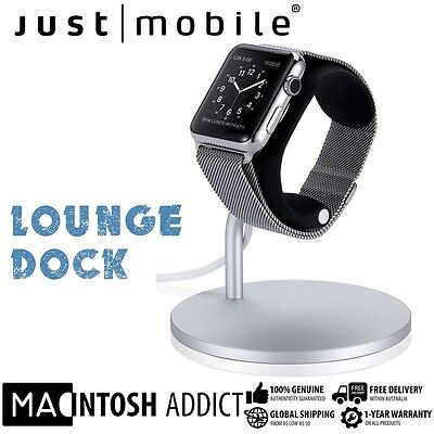 Just Mobile Lounge Aluminium Adjustable Charging Dock Stand For Apple Watch