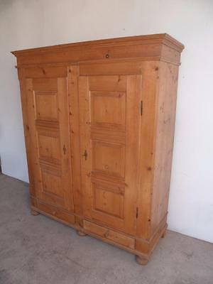 A Fabulous Georgian 3 Piece Antique Pine 6 Panel Large Wardrobe