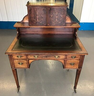 A Stunning Outstanding Superb Quality Heavily Inlaid Edwardian Writing Desk