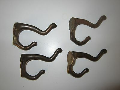 4 Antique Vintage Cast Iron Coat Hat Hooks Hangers