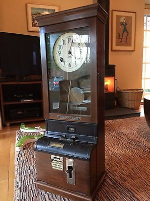 IBM Antique Clocking-In Machine/ Time Recording Clock Beautiful Condition