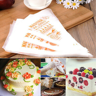 100Pcs 3 Size Disposable Cake Decor Tool Cream Bags Icing Piping Pastry Bags New