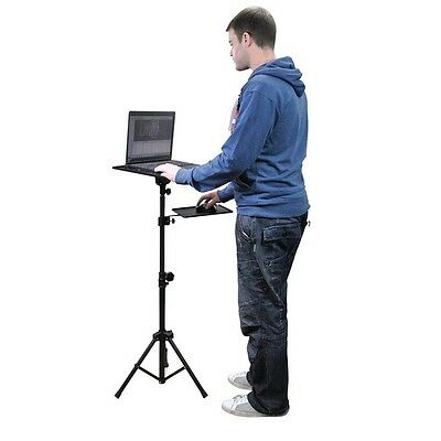 Portable Projector or Laptop Stand Adjustable Tripod inc Mouse Shelf Conference
